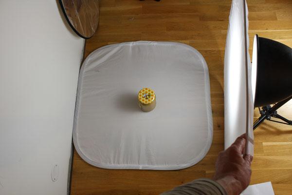 Jak funguje světelný stan - rozptylová deska daleko