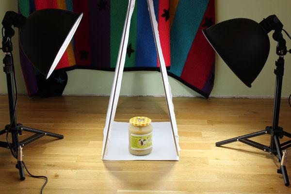 Světelný stan - rozptylové desky