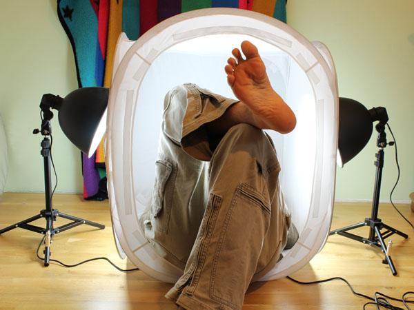 Mám malý světelný stan a nohy tak dlouhé …